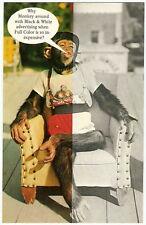 Koppel Advertising Photo Postcard MONKEY CHIMPANZEE CHIMP Vintage 1950's
