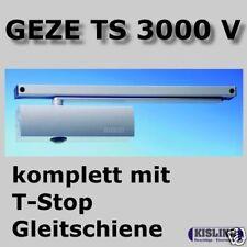 GEZE TS 3000 V Türschliesser mit T-Stop Gleitschiene silberfarbig