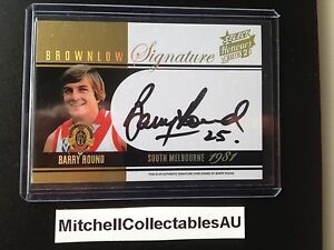 2015 Honours Brownlow Signature LOW NUMBER #004 BMS9 Barry Round South Swans