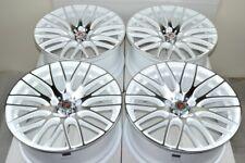"4 New Ddr Zuki 18x8 5x114.3 40mm White/Polished 18"" Rims Wheels (Fits: Kia)"