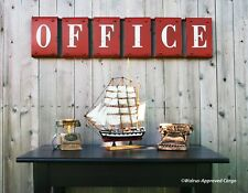 POTTERY BARN RUSTIC OFFICE SIGN -NIB- THIS WILL (ALMOST!) MAKE WORK A PLEASURE!