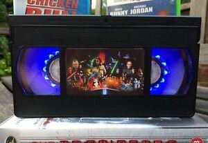 Star Wars VHS Night Light, Action Movie, Horror, Bed Light, Desk Light, Kids, TV