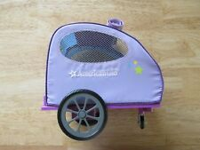 American Girl Doll Pet Trailer for Bike Cat Dog, No flag or tow rope