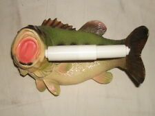 "BASS FISH 8.5"" Wall-Mounted, Toilet Paper Roll Holder HIGH-QUALITY/REALISTIC!"