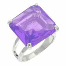 Unbranded Cubic Zirconia Princess Solitaire Costume Rings