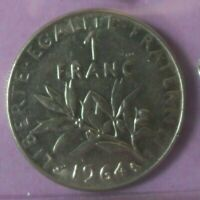 1 franc Semeuse 1964 : SUP : pièce de monnaie française N86