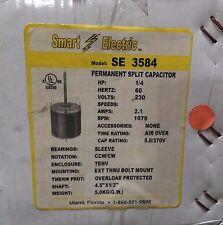 ~Discount HVAC~SE3584-Smart Electric Blower Motor 1/4HP 230V 2.1A 1075RPM CW CCW