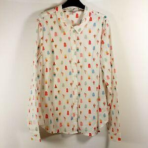Cath Kidston Ice Cream / Ice Lolly Shirt, Blouse, UK Size 14, 100% Cotton