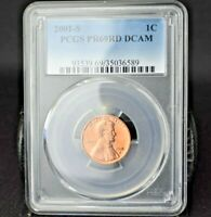 2001-S~1C~LINCOLN CENT~PCGS PR69RD DCAM~B/U~GORGEOUS BRIGHT RED BEAUTY~