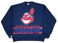 Vtg Cleveland Indians MLB 1995 Salem Double Sided Sweatshirt XL USA NEW 90s