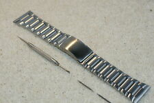 Stainless Steel XL Bracelet Spring Loaded Watch Strap 26 28 30mm Bar s +Tool