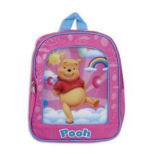 "Backpack 11"" Winnie the Pooh Pink Cloud Rainbow Girl NWT"