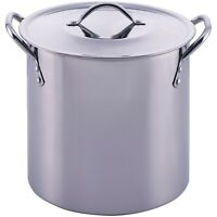 Stainless Steel Pot With Lid Cooking Kitchen Soup Stew Sauce Stockpot 8/12 Quart