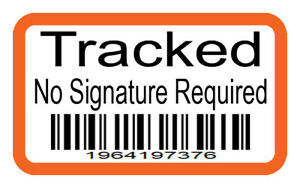 Fake Royal Mail Tracked Stickers - INR - Barcode - 100 Stickers - 2 Designs