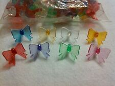 Vintage Ceramic Christmas Tree Lights Bulbs Replacements 29 Bows RARE 9 Colors