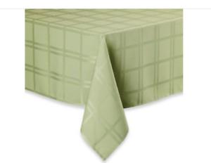 New Origins Microfiber Tablecloth Spill Proof - Kiwi- 60 x 84 & 60 x 140