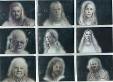 Lord Of The Rings Masterpieces 2 Complete 9 Card Silver Foil Chase Set