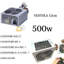 ALIMENTATORE 500W PC CASE ATX 24 PIN VENTOLA 12 CM BULK 2 SATA 2 IDE DESKTOP