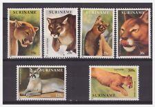 Surinam / Suriname 1991 Wild live 1991 poema puma MNH