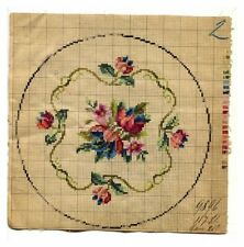 ANTIQUE ORIGINAL BERLIN WOOLWORK HAND PAINTED CHART PATTERN TULIP FLORAL