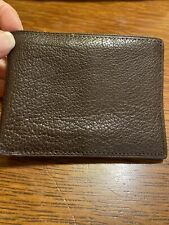 Brown Pebbled Leather Wallet Bifold