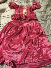 Fantasy Play Clothes Girls Princess Fairy Dress Costume2 pc  Dark Pink  3+