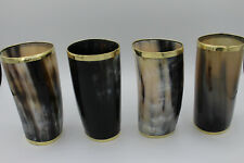 7 oz Viking Drinking Glass - Brass Rim