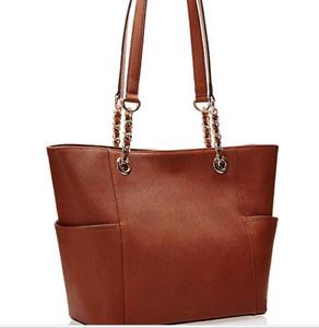BNWT Calvin Klein Luggage Saffiano Leather Key Chain Tote RRP$399