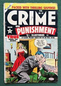Crime and Punishment #59 Lev Gleason Pub Golden Age True Illustories SOTI g/vg-