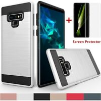 For Samsung Galaxy Note 9/S9/S9 Plus Shockproof Slim Dual Case+Screen Protector