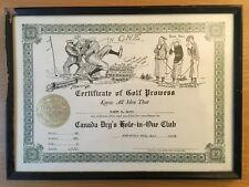 CANADA DRY'S HOLE-IN-ONE CLUB Northfield MA Golf Club CLARE BRIGS 1931 GOLF ART