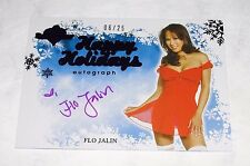 2012 Benchwarmer FLO JALIN Happy Holidays Purple Foil Auto/25 Hot Adult Model