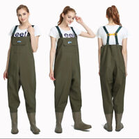 Waterproof Overall Chest Waders Fishing Hunting With Wading Boots US