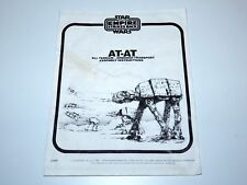 STAR WARS KENNER ORIGINAL SPARE INSTRUCTIONS 1981 ESB AT-AT PALITOY