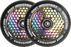Root Industries Honeycore 110mm Neochrome - 2-Pack Stunt Scooter Rolls