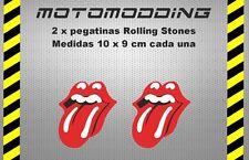 2 x pegatinas logotipo rolling stones vinilo adhesivo stickers decal autocollant