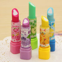 Aodrable Lipstick Pattern Rotating Style Eraser Rubber Stationery Office Ga@97k