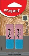 Maped Duo-Gom Regular Eraser (Pack of 2) - Eraser for PENCIL and PEN INK
