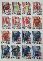 2020/21 Match Attax UEFA - Full set of 32 update cards inc Ronaldo, Ibra, Dybala