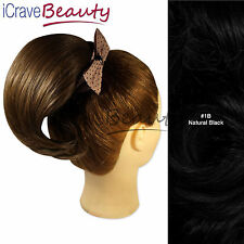 Clip in Hair Bun - Clip In Pony tail -Short Ponytail-Straight Ponytail Hairpiece