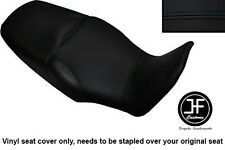 BLACK VINYL CUSTOM FOR HONDA XL 1000 V VARADERO 08-13 DUAL SEAT COVER ONLY