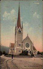 Zug Schweiz Innerschweiz AK ~1910 Pfarrkirche St. Michael Kirche Michaelskirche