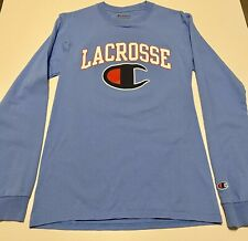 Champion Chill Life Lacrosse blue size S long sleeve t-shirt