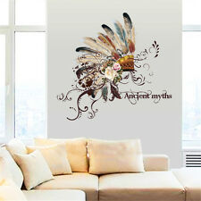 Ancient Hat Feathers Room Home Decor Removable Wall Stickers Decals Decoration*