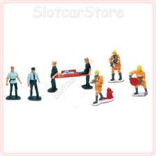 NewRay 63280 8 Rettungs-Einsatz Figuren Polizei Feuerwehr Sanitäter Slotcar 1:32