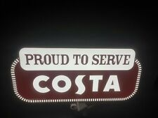 COSTA COFFEE SIGN LED LIGHT BOX MAN CAVE COFFEE DRINK GAMES ROOM BAR GIFT