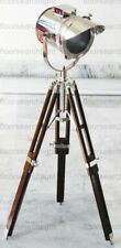 Floor Lamp Home Decor Theater Vintage Spot Light With Solid Wooden Tripod