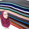 Women Glitter Viscose Hijab Scarf Plain Muslim Scarves Wrap Long Muslim Shawls