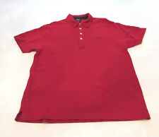Vintage Tommy Hilfiger Jeans Denim Mens Red Polo Rugby Shirt Large Spellout Logo