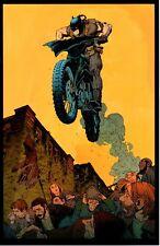 "BATMAN BATCYCLE ART PRINT - SIGNED  BY ARTIST GREG CAPULLO  11""x17"""